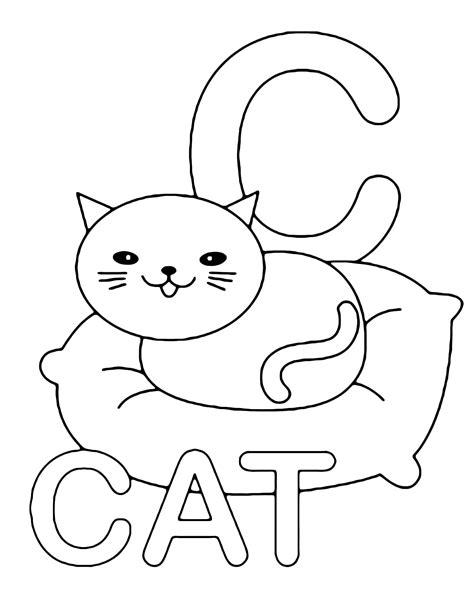 lettere inglese lettere e numeri lettera c in statello di cat gatto