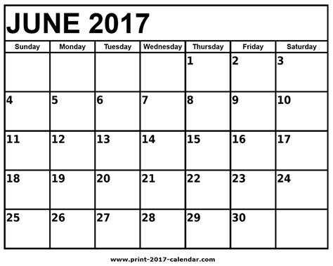 printable calendar june 2017 june 2017 printable calendar