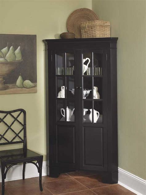 Dining Room Corner Cabinet by Cabinet Corner Curio Door Glass Cabinet Doors