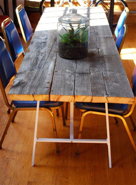 Build Outdoor Dining Table Diy Reclaimed Wood Dining Table Poppytalk