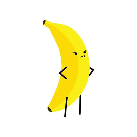 angry banana temporary tattoo set of 1