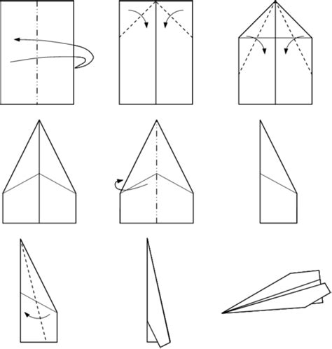 Steps To A Paper Airplane - how to make cool paper planes step by step