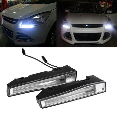 1 pair 1500lm 10w led car daytime running light led fog