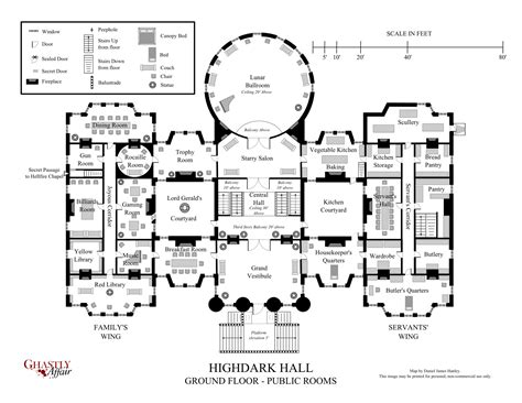 Hidden Passageways Floor Plan | victorian house plans secret passageways interior design