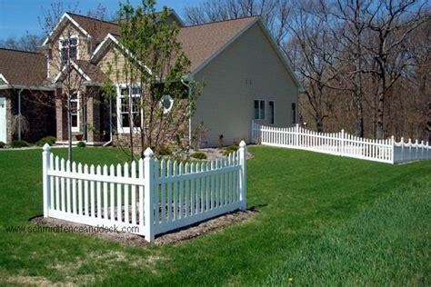 corner accent fence prescott picket fence   great