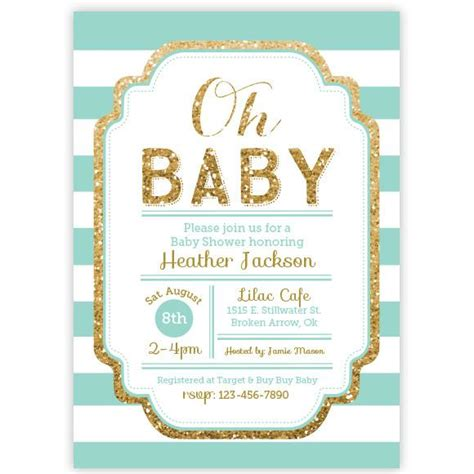 abstract baby shower invitation boys navy mint gold dot pink and gold glitter baby shower invitation aditional