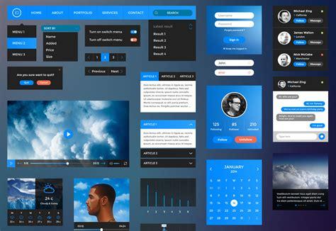 best free web design the best free ui kits february 2015 webdesigner depot