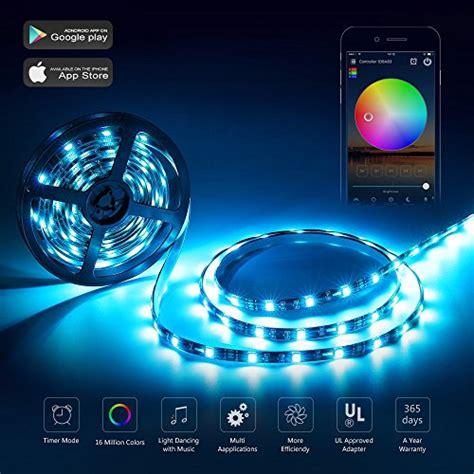 Where Can I Buy Led Light Strips Nexlux Led Lights Wifi Wireless Smart Phone Controlled Light Kit 16 4ft 150leds