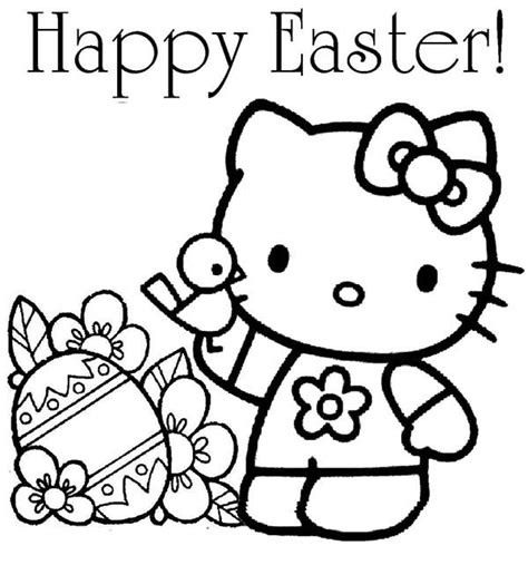 hello kitty easter coloring pages to print hello kitty happy easter coloring page netart