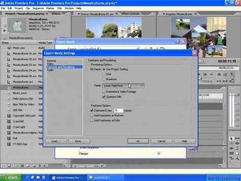 export avi format adobe premiere exporting the sequence in adobe premiere pro 2 0 to an