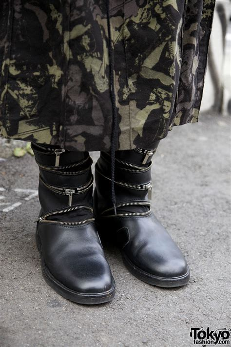 Raf Simons 2014 Boots by Raf Simons Zipper Boots Ethnic Bags