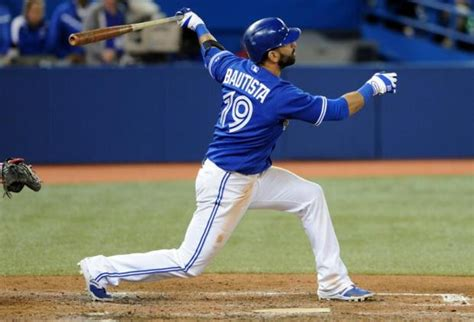 jose bautista swing jose bautista keeping blue jays in wild card race