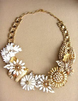 Vintage Jewelry Made New by Recycled Vintage Jewelry Trash Fashion