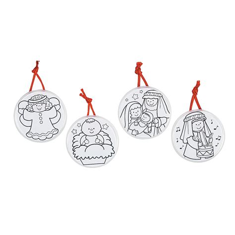color your own religious christmas ornaments oriental