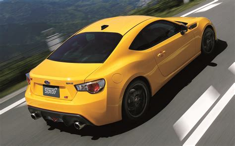 yellow subaru 2015 subaru brz ts sti announced for japan limited to 300