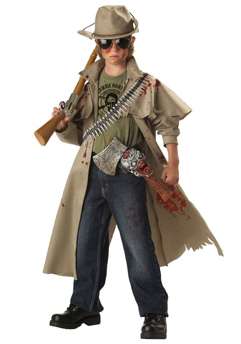 Child zombie hunter costume