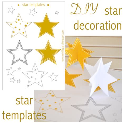 free printable christmas paper decorations free printable star templates 16 last minute diy