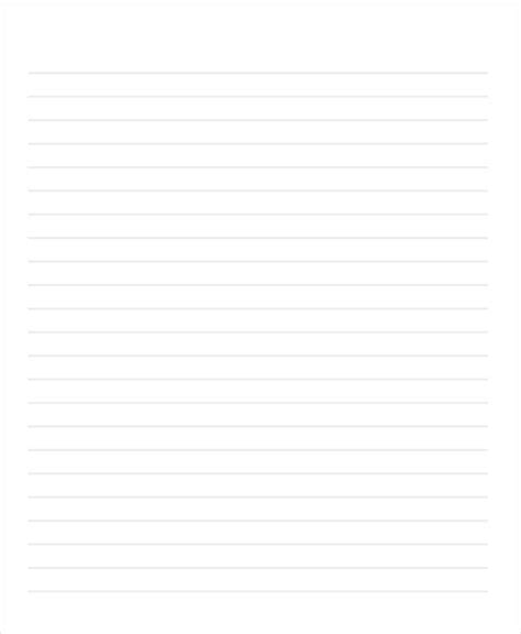 29 Printable Lined Paper Templates Free Premium Templates Letter Template With Lines