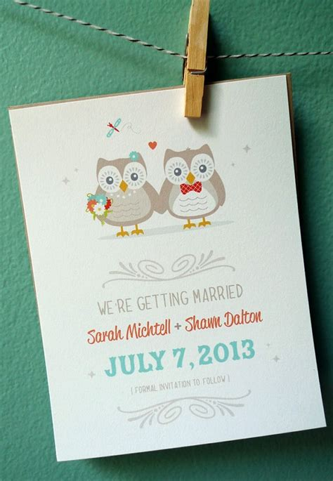 owl wedding save the date wedding invitations shower invitations wedding shower