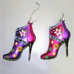 shoe ornaments tree glass shoe ornaments it s time