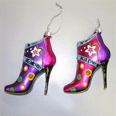 christmas tree glass shoe ornaments it s christmas time