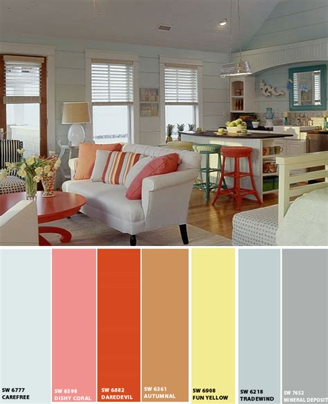 color schemes for home interior beach house beach paint colors beach and brown