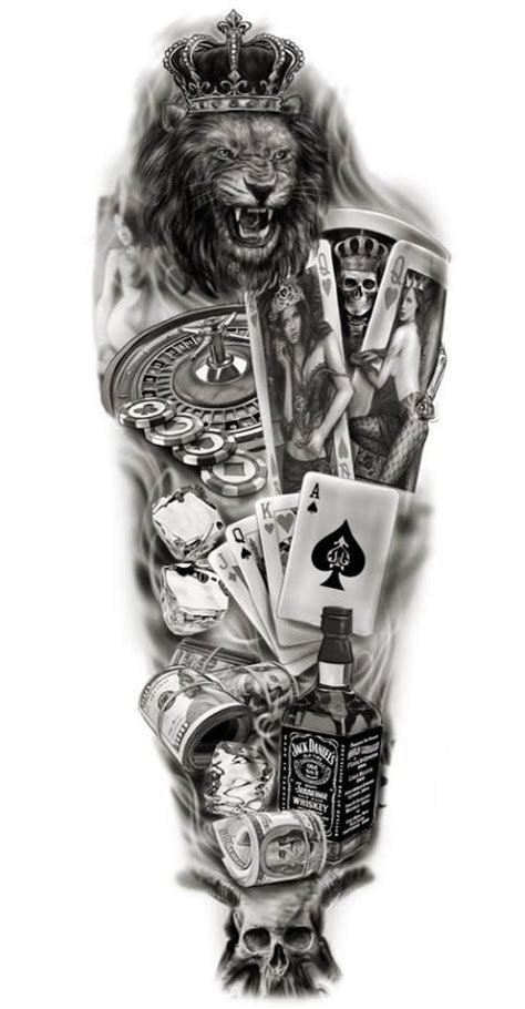 card sleeve tattoo designs sleeve custom design