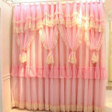 cheap ruffle curtains online get cheap ruffled pink curtains aliexpress com