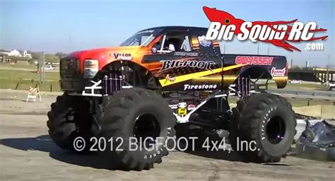 bigfoot electric monster video electric full size monster truck car crushing