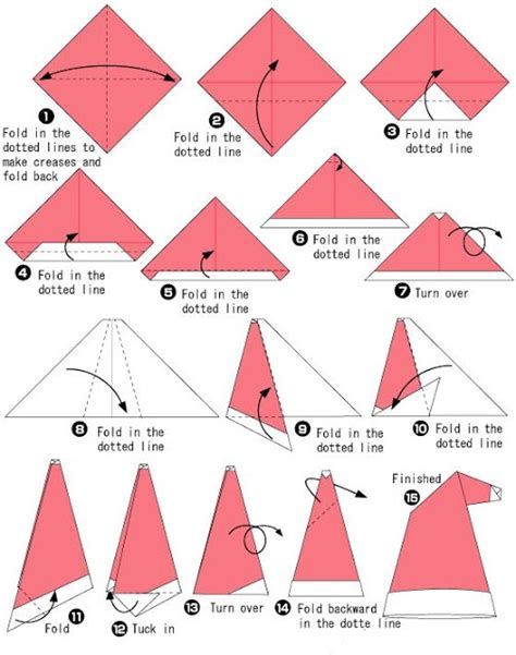 How To Make Origami Hats - origami hat natale