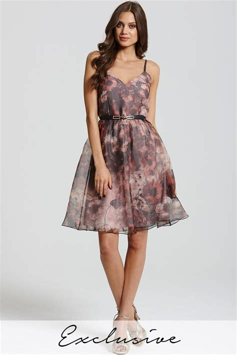 Print Strappy Dress floral print strappy prom dress from uk