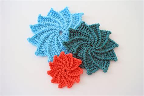 crocheted corkscrew tutorial youtube how to crochet the spiral crochet flower youtube