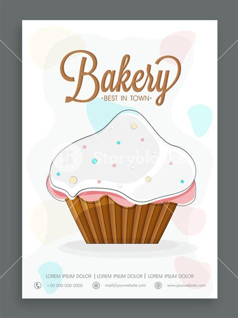 cupcake menu card template stylish menu card design for sweet shop or bakery