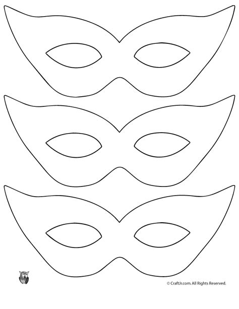 mask templates printable printable masquerade mask pattern template woo jr
