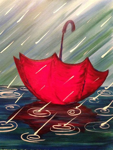 lost umbrella our gallery painting simple