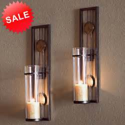 sconces candle wall decor candle wall sconce holder metal glass pair decor vintage