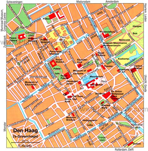 netherlands the hague map 12 top tourist attractions in the hague easy day trips