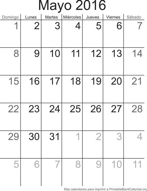 almanaque mayo 2016 imprimir calendario mayo 2016 calendarios para imprimir