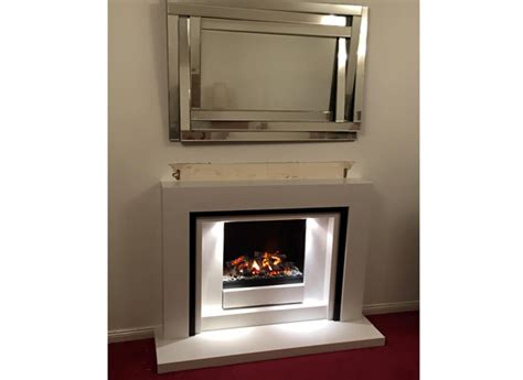 ultra realistic electric fireplace follow the