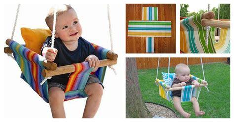 cool baby swings diy baby canvas swings