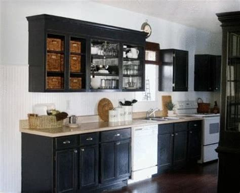 black and white appliance reno black cabinets white appliances cottage i was thinking