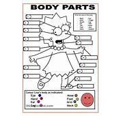 Body Parts For Kids Coloring Pages Many Interesting Cliparts