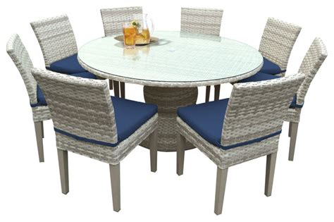 Patio Dining Set Cover Shop Houzz Tkclassics New 60 Quot Outdoor Patio Dining Table With 8 Chairs 2 For 1 Cover