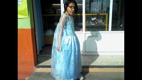 como hacer  vestido de elsa de frozen parte  youtube
