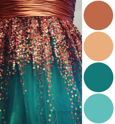 copper color combinations color palette inspiration sequin copper teal style