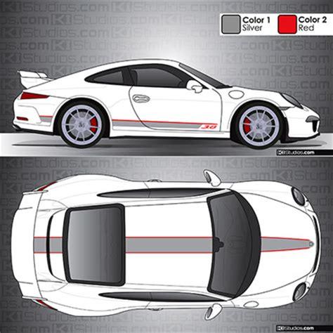 Porsche 997 Gt3 Aufkleber by Ki Studios Stripe Kit 001 For Porsche 991 Gt3 And 991 2 Gt3