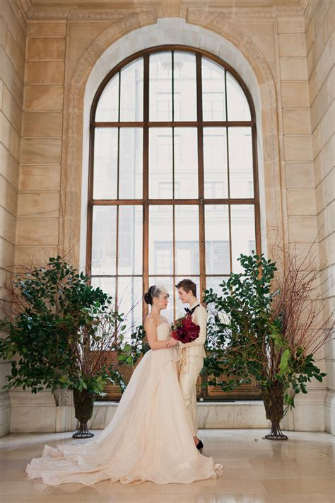 winter wedding new york picture of refined same winter wedding in new york library 17