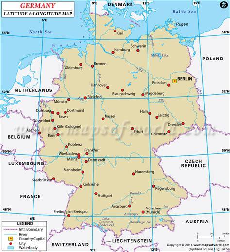 Germany Finder Germany Latitude And Longitude Map