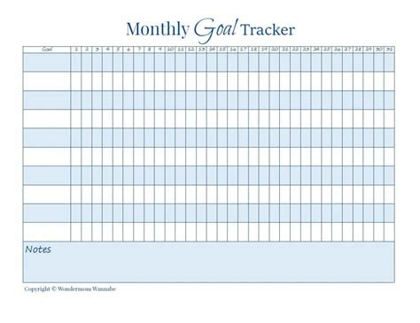 printable monthly goal calendar how to make health a habit