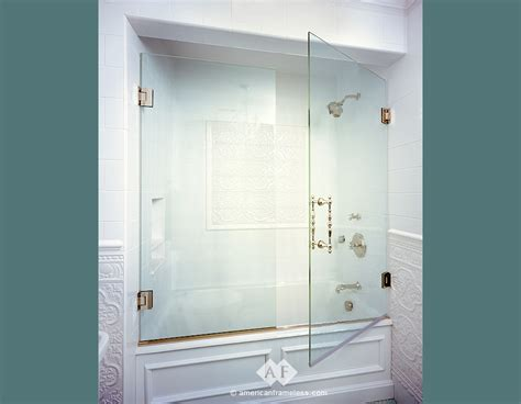 glass bathtub shower doors bathtubs with frameless doors from glass useful reviews